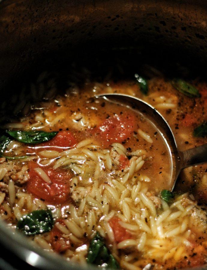 Sausage & Orzo Soup